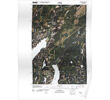 USGS Topo Map Washington State WA Belfair 20110422 TM Poster