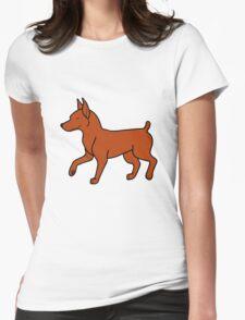 Red Miniature Pinscher Womens Fitted T-Shirt