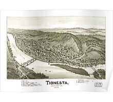 Panoramic Maps Tionesta Forest County Pa 1896 Poster
