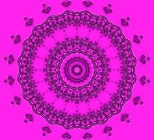 Flower Kaleidoscope Pink 01 by fantasytripp