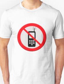 No mobile telephones.  T-Shirt