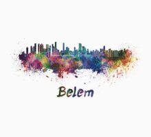 Belem skyline in watercolor One Piece - Short Sleeve