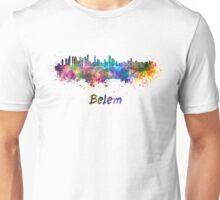 Belem skyline in watercolor Unisex T-Shirt