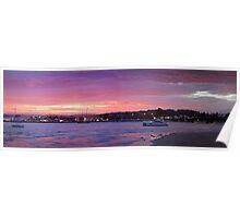 Batemans Bay night panorama Poster