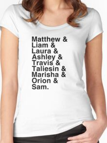 The Cast of Critical Role - Helvetica List Women's Fitted Scoop T-Shirt