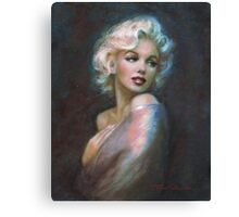 Marilyn WW blue dark Canvas Print