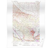 USGS Topo Map Washington State WA Selah 243664 1958 24000 Poster