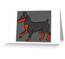 Black Miniature Pinscher Greeting Card