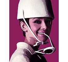 Audrey in magenta Photographic Print