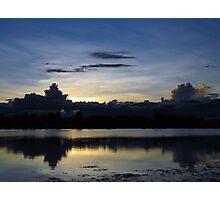 Silvery sunset Photographic Print
