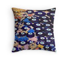 Protection From The Evil Eye - Boncuk Amulet Throw Pillow