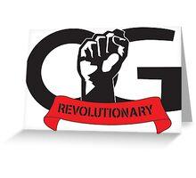 OG Fist Revolutionary Greeting Card