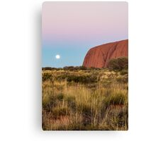 Moonrise at Uluru Canvas Print