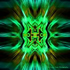 Green Psychodelic Abstract by TheSassyYank