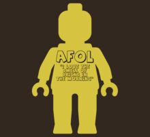 Minifig with 'AFOL I Love the Smell of Bricks in the Morning' Slogan by Customize My Minifig by ChilleeW