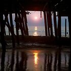 Remains of Jeanette's Pier at Sunrise by Kenneth Keifer