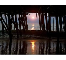 Remains of Jeanette's Pier at Sunrise Photographic Print