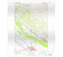 USGS Topo Map Washington State WA Toppenish 244317 1958 24000 Poster