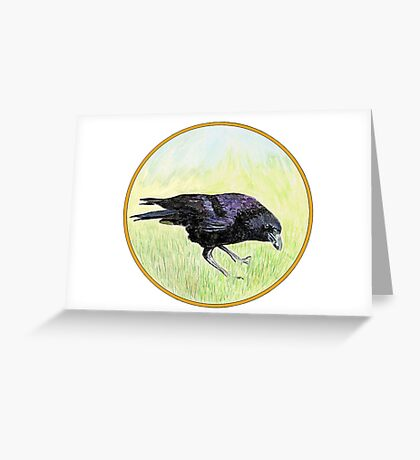 Crow, Birds of Hepburn, 2011 Greeting Card