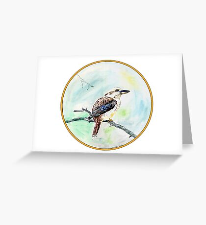 Kookaburra, Birds of Hepburn, 2011 Greeting Card