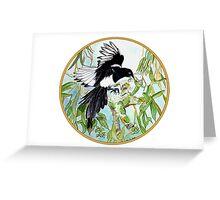 Magpie, Birds of Hepburn, 2011 Greeting Card