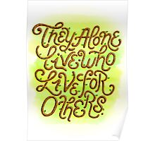 Live for Others Poster