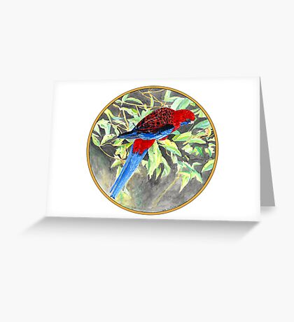 Rosella, Birds of Hepburn, 2011 Greeting Card