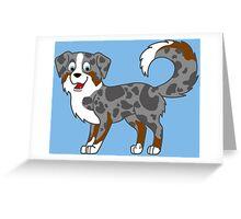 Blue Merle Australian Shepherd Greeting Card