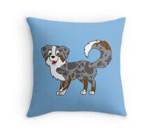 Blue Merle Australian Shepherd Throw Pillow