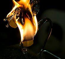 Blown glass, freshly made by Gleb Zverinskiy