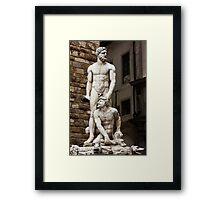 Hercules & Cacus Framed Print