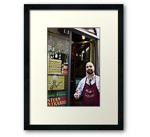 Lucca deli owner Framed Print