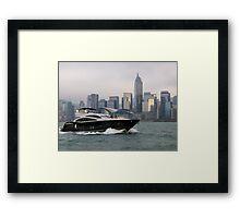 Hong Kong Harbour, taking the sea air, 2012. Framed Print