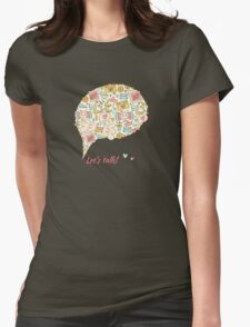 Let's talk about happy! Womens Fitted T-Shirt