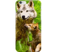 Wild nature - wolves iPhone Case/Skin