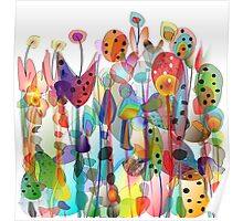 Summer Garden Flowers Poster