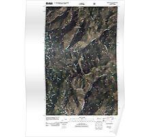 USGS Topo Map Washington State WA Spur Peak 20110427 TM Poster