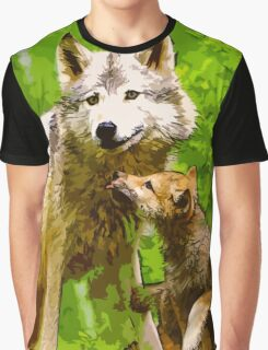 Wild nature - wolves Graphic T-Shirt