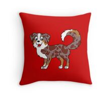 Red Merle Australian Shepherd Throw Pillow