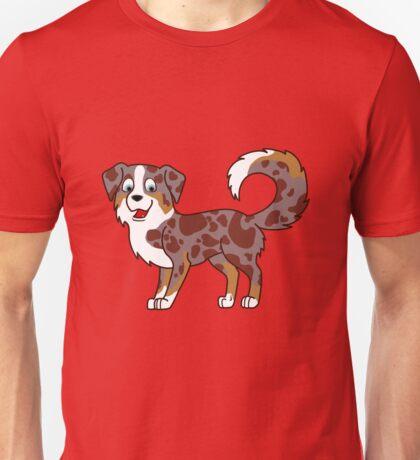 Red Merle Australian Shepherd Unisex T-Shirt
