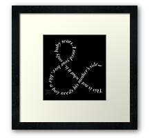Of Mice & Men Ampersand Typography Logo Framed Print
