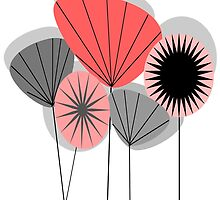 Mid-Century Modern Dandelion Clocks by Gail Gabel, LLC