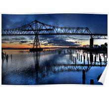 Astoria Bridge connecting Oregon to Washington (USA) Poster