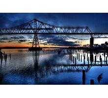 Astoria Bridge connecting Oregon to Washington (USA) Photographic Print