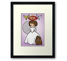 A Forceful Princess Framed Print