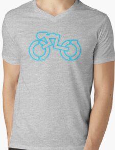 Grid Cyclist (halftone) Mens V-Neck T-Shirt