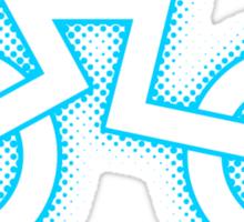 Grid Cyclist (halftone) Sticker