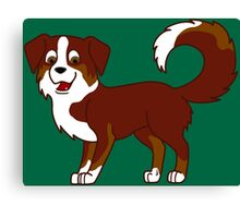 Red Tricolor Australian Shepherd Canvas Print