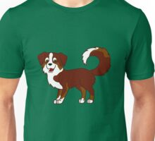 Red Tricolor Australian Shepherd Unisex T-Shirt