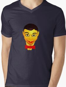 Bow Tie and face Mens V-Neck T-Shirt